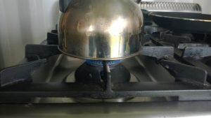 Koken op biogas